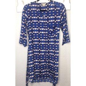 Lucky brand blue shirt dress with belt size M